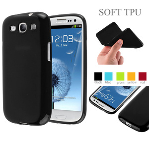Jelly Glossy Silicon Soft Tpu Phone Case For Samsung Galaxy S3 Cover Case