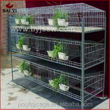Hot Sale Folding Metal Steel Rabbit Breeding Cages With Tray(H type ,alibaba supplier)