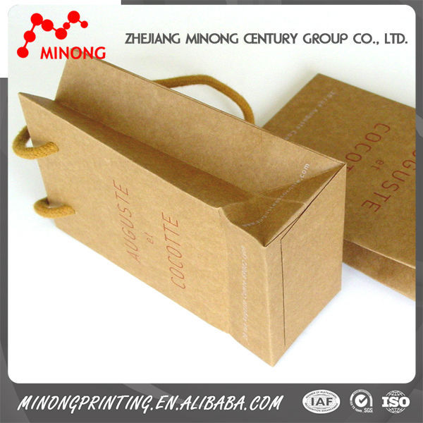Wholesale high quality small brown paper bags with handles