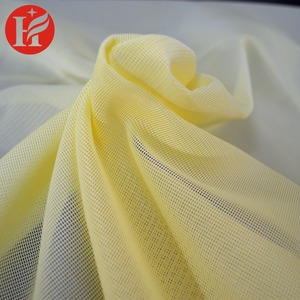 100% polyester grid square mesh fabric for sports shoes