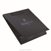 Custom Black Kraft Clothing Packing Bag