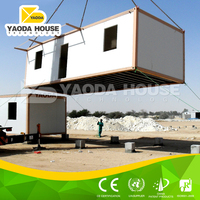 Low cost container house with cheap office decor
