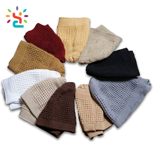 Colorful men islamic kufi hat Womens Girls Knitted Hat gorros de lana the Beanie white black Hats