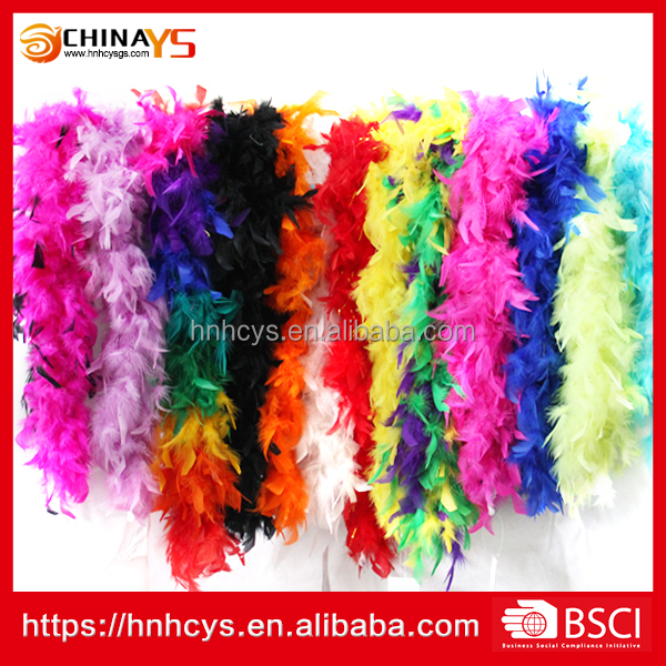 BSCI factory audit new arrival 30g dark green craft boa 1.5meters cheap turkey feather on promotion