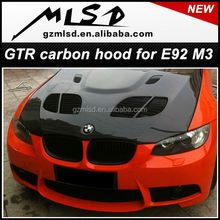 Auto tuning spare styling GTR carbon fiber hood for E92 M3