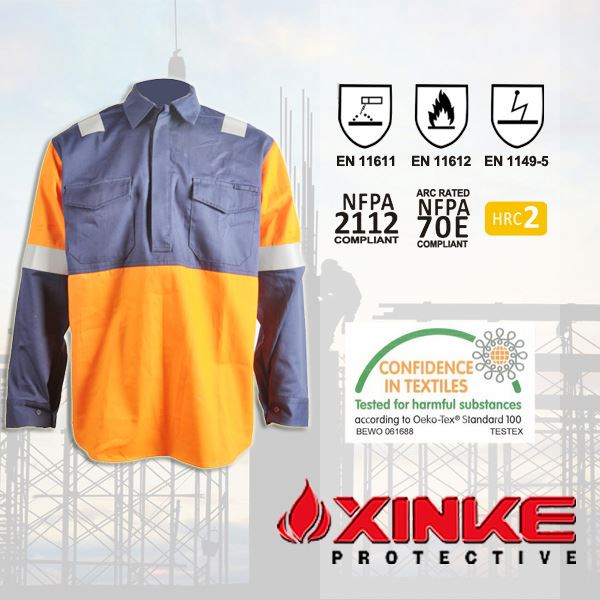 Reflective FR high visibility shirts wholesale for safety workwear