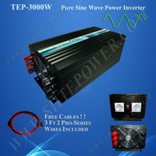 converter 12v to 220v 3000w pure sine wave solar wind inverter