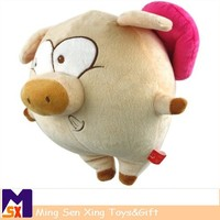 Hot sale stuffed one piece plush toy plush pig