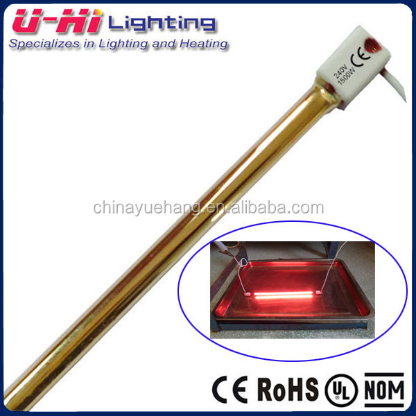 Gold halogen bulb infrared halogen heater lamp tube gold coated waterproof