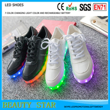 Wholesale led light shoes,RGB color light rechargeable shoes led for Christmas party