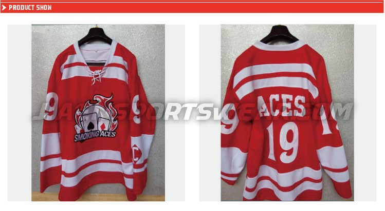 custom sublimation inline hockey jersey100% polyester hockey jersey