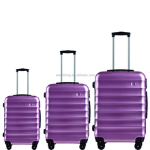 Fashion and light weight plastic cover 3pcs luggage travel set bag