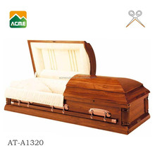 AT-A1320 MDF solid venner caskets from china