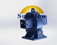 7 inch vertical slewing drive gearbox for horizontal single axis solar tracker