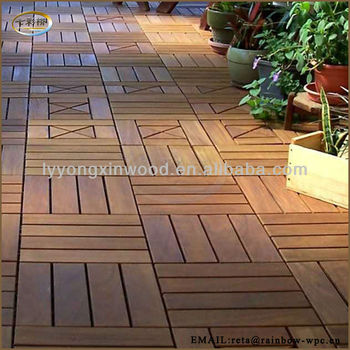 WPC DIY decking Floor/wpc DIY flooring/wpc interlocking decking tiles 310*310mm