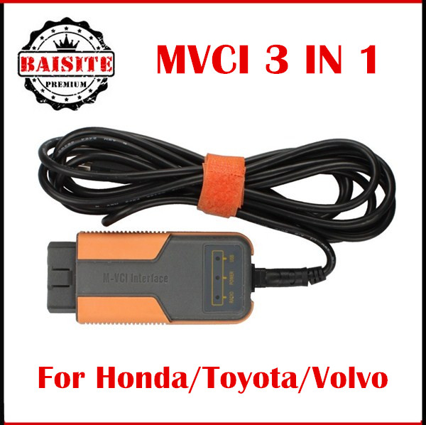 New MVCI 3 IN 1 V10.30.029 High Performance Factory car Diagnostics For TOYOTA TIS for honda hds for volvo dice Multi-Languages
