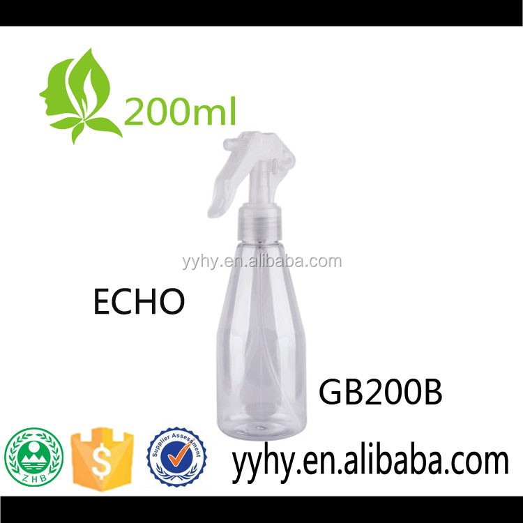 200ml PET plastic fine mist sprayer pump bottle