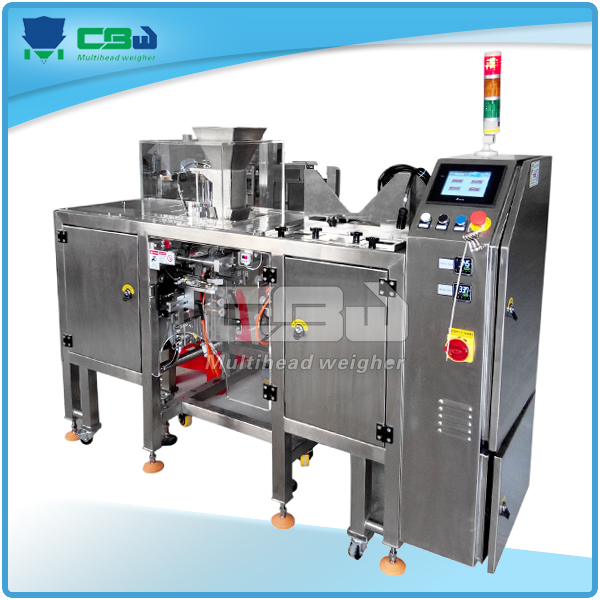Snacks,jelly, candy ,popcorn packaging machine and multihead scale of vibration platform machines