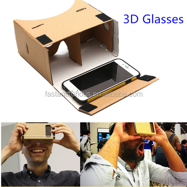 "High quality DIY Google Cardboard Virtual Reality VR 3D Viewing Glasses For 3.5-5.5"" Screen Mobile Phones"