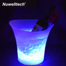 Portable Waterproof Plastic Remote Control Wine Bucket Holders Color Changing LED Beer Champagne Ice Cooler Bucket