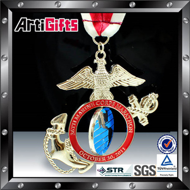 Customer own logo china medal factory for military service