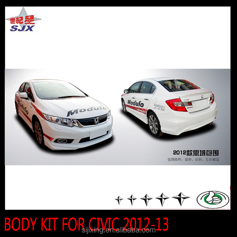 Plastic body kit for Civic full set car rear and front bumpers