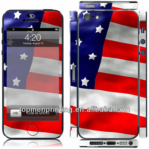 3d skin for apple iphone hot selling custom cell phone sticker