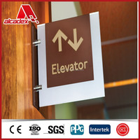aluminium composite cladding warning sign sandwich board in hotels