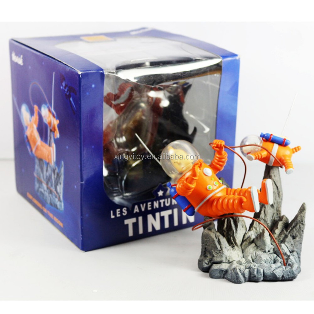 "Les Aventures De Tintin Explorers on The Moon 3.9"" Orange Toy Action figure"