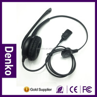 2016 middle class call center uniaural Headset with QD cable