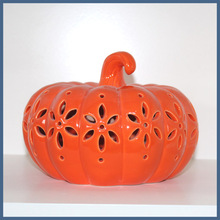 Best selling ceramic porcelain craft pumpkin for halloween