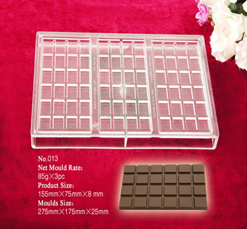 Q013 transparent stamp chocolate bar mould/chocolate tablet mould