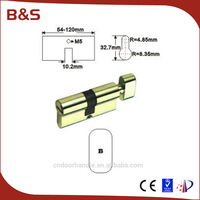 European profile door lock cylinder types with normal and dimple keys