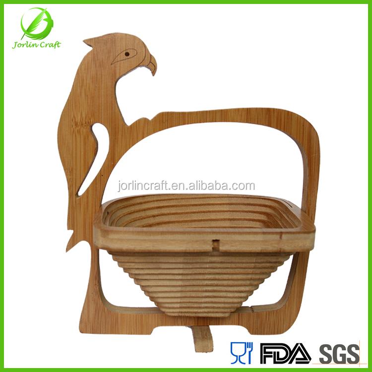 Handmade Collapsible Wooden Baskets : Handmade folding wooden fruit basket buy