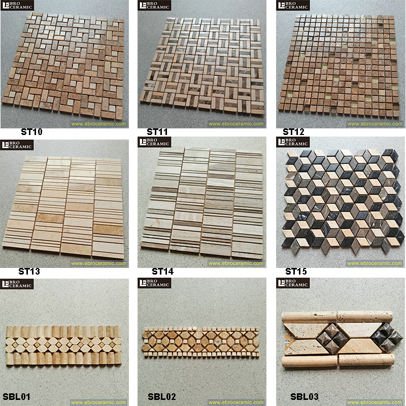 foshan stone marble mosaic tile for wall tile decoration