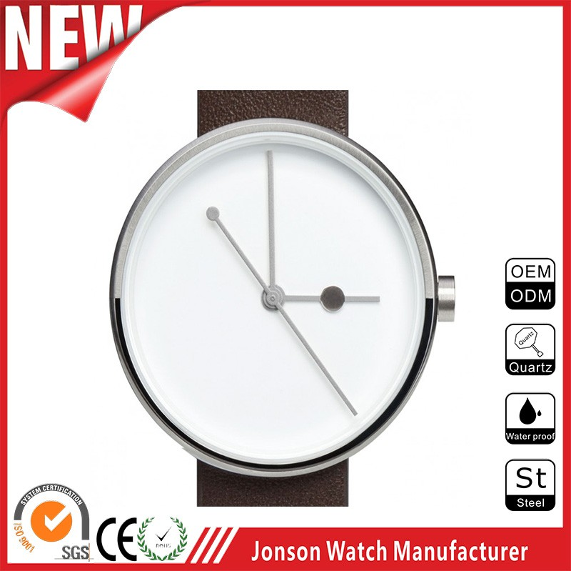 Top quality mens luxury stainless steel wrist watch with you logo