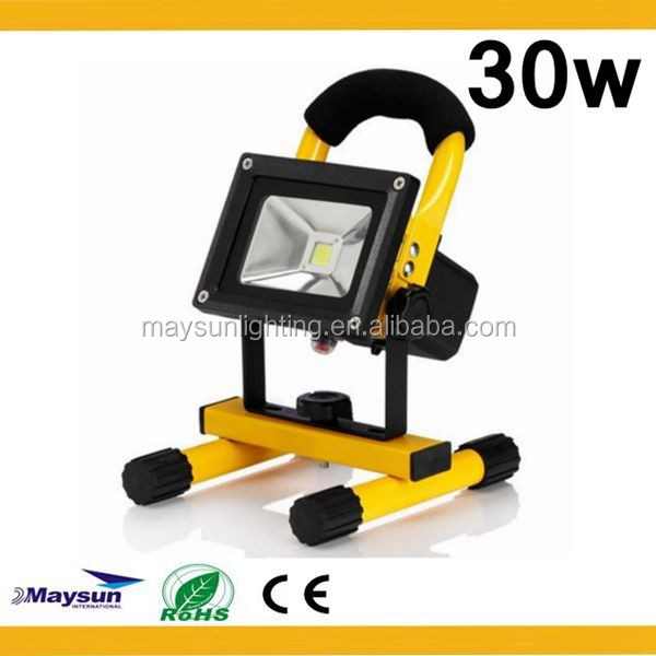 high power led flood light 30w rechargeable led bulb for outdoor lighting