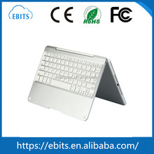 Hot selling new style top quality silver 360 degree freely rotatable keyboard for ipad