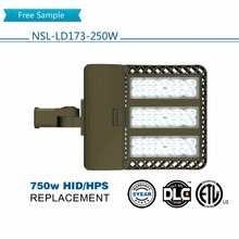 Factory sale new shoebox leds fixture outdoor area light commercial led light IP65 250W