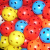 Assorted color hollow plastic practice golf balls