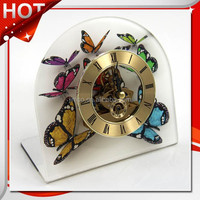 Home goods butterfly printed pictures style acrylic desk time, table clock