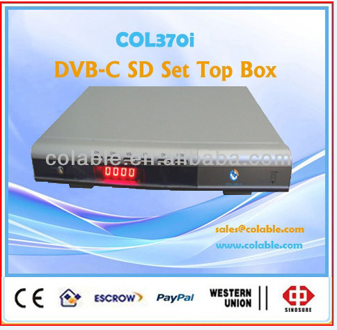 television set top box,dvb c set top box,sd tv box for cable televisionCOL370i