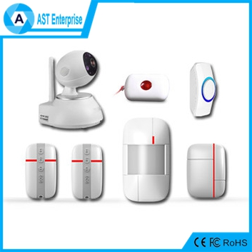 Vcare Smart GSM/WIFI Alarm System Professional alarm system home security with pet immune wireless pir sensor 433MHz