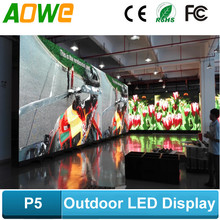 Full colour video function led display screen/CE approved outdoor rgb P5 led display board