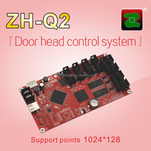 ZH high grey HD door head full color LED display control card/LED sign board/lLED matrix module