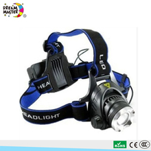 Wholesale Miner Headlamp LED Rechargeable Headlamp Custom Elastic Bands for Headlamp
