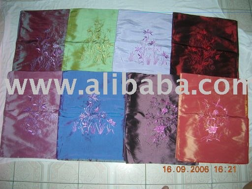 Embroideried silk scarf