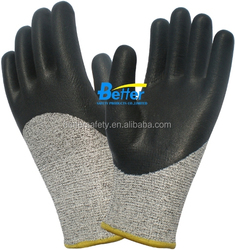 13 Guage Gray HPPE Black Foam Nitrile Cut Cheap Gloves China Factory
