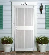 High-end modern exterior louvered door