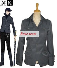 Fantasia Anime Lolita-Top Sale K-project Munakata Reisi Coat Anime Cosplay Costume Halloween Party Costumes C0125